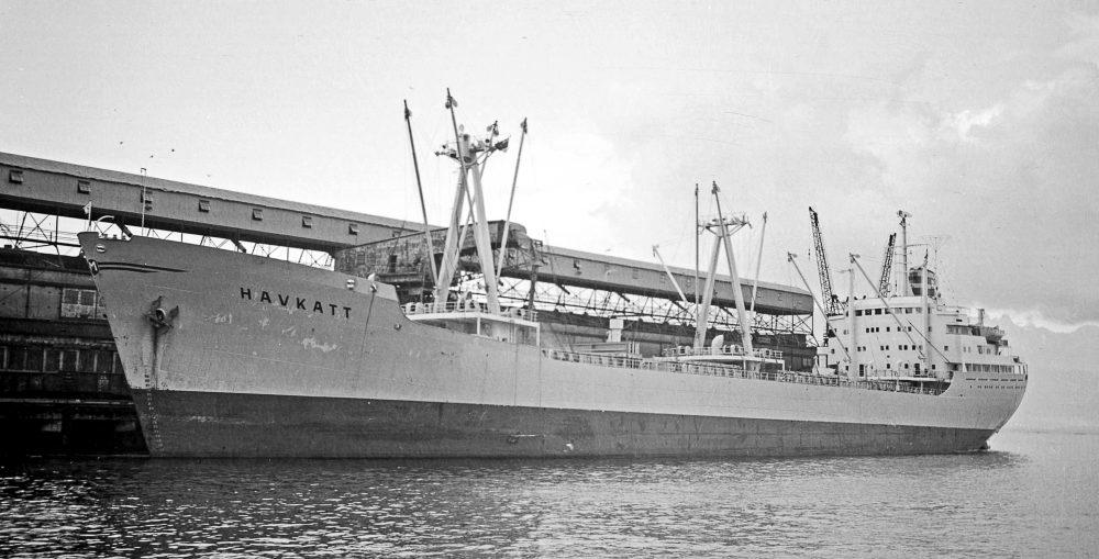 Havkatt docked in ballast - Photo Vancouver Sun